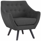 Modway Allegory Upholstered Fabric Armchair in Gray MY-EEI-2549-GRY