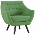 Modway Allegory Upholstered Fabric Armchair in Green MY-EEI-2549-GRN