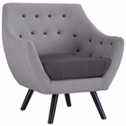 Modway Allegory Upholstered Fabric Armchair in Light Gray MY-EEI-2549-LGR