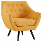Modway Allegory Upholstered Fabric Armchair in Mustard MY-EEI-2549-MUS