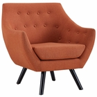 Modway Allegory Upholstered Fabric Armchair in Orange MY-EEI-2549-ORA