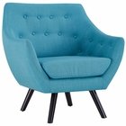 Modway Allegory Upholstered Fabric Armchair in Pure Water MY-EEI-2549-PUR