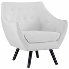 Modway Allegory Upholstered Fabric Armchair in White MY-EEI-2549-WHI