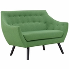 Modway Allegory Upholstered Fabric Loveseat in Green MY-EEI-2550-GRN