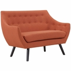 Modway Allegory Upholstered Fabric Loveseat in Orange MY-EEI-2550-ORA