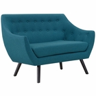Modway Allegory Upholstered Fabric Loveseat in Teal MY-EEI-2550-TEA
