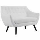 Modway Allegory Upholstered Fabric Loveseat in White MY-EEI-2550-WHI