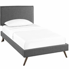 Modway Amaris Twin Upholstered Fabric Platform Bed with Round Splayed Legs in Gray MY-MOD-5902-GRY