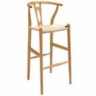 Modway Amish Beech Wood Bar Stool in Natural MY-EEI-1079-NAT