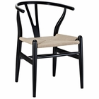 Modway Amish Dining Wood Armchair in Black MY-EEI-552-BLK