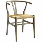 Modway Amish Dining Wood Side Chair in Weathered Gray MY-EEI-3047-GRY