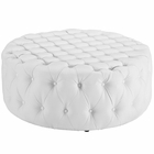 Modway Amour Faux Leather Ottoman in White MY-EEI-2224-WHI