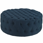 Modway Amour Upholstered Fabric Ottoman in Azure MY-EEI-2225-AZU