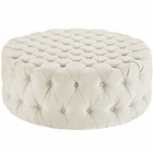 Modway Amour Upholstered Fabric Ottoman in Beige MY-EEI-2225-BEI