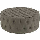 Modway Amour Upholstered Fabric Ottoman in Granite MY-EEI-2225-GRA