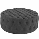 Modway Amour Upholstered Fabric Ottoman in Gray MY-EEI-2225-GRY
