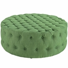 Modway Amour Upholstered Fabric Ottoman in Kelly Green MY-EEI-2225-GRN