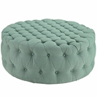 Modway Amour Upholstered Fabric Ottoman in Laguna MY-EEI-2225-LAG