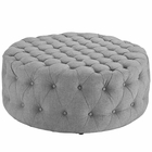 Modway Amour Upholstered Fabric Ottoman in Light Gray MY-EEI-2225-LGR