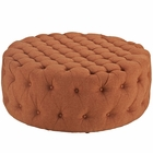 Modway Amour Upholstered Fabric Ottoman in Orange MY-EEI-2225-ORA