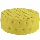 Modway Amour Upholstered Fabric Ottoman in Sunny MY-EEI-2225-SUN