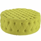 Modway Amour Upholstered Fabric Ottoman in Wheatgrass MY-EEI-2225-WHE