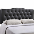 Modway Annabel Full Tufted Faux Leather Headboard in Black MY-MOD-5157-BLK