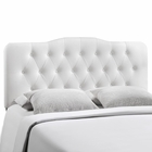 Modway Annabel Full Tufted Faux Leather Headboard in White MY-MOD-5157-WHI