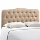 Modway Annabel Full Tufted Upholstered Fabric Headboard in Beige MY-MOD-5156-BEI