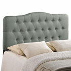 Modway Annabel Full Tufted Upholstered Fabric Headboard in Gray MY-MOD-5156-GRY