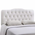 Modway Annabel Queen Tufted Faux Leather Headboard in White MY-MOD-5155-WHI