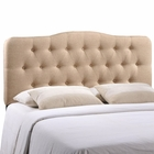 Modway Annabel Queen Tufted Upholstered Fabric Headboard in Beige MY-MOD-5154-BEI