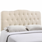 Modway Annabel Queen Tufted Upholstered Fabric Headboard in Ivory MY-MOD-5154-IVO