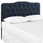Modway Annabel Queen Tufted Upholstered Fabric Headboard in Navy MY-MOD-5154-NAV