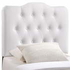 Modway Annabel Twin Tufted Faux Leather Headboard in White MY-MOD-5161-WHI