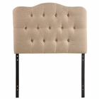 Modway Annabel Twin Tufted Upholstered Fabric Headboard in Beige MY-MOD-5160-BEI