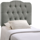 Modway Annabel Twin Tufted Upholstered Fabric Headboard in Gray MY-MOD-5160-GRY
