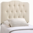 Modway Annabel Twin Tufted Upholstered Fabric Headboard in Ivory MY-MOD-5160-IVO
