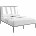 Modway Annika Queen Steel Platform Bed in Gray MY-MOD-5478-GRY