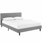 Modway Anya Queen Upholstered Fabric Bed in Light Gray MY-MOD-5420-LGR
