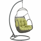 Modway Arbor Outdoor Patio Wicker Rattan Swing Chair in Peridot MY-EEI-2279-PER-SET