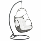Modway Arbor Outdoor Patio Wicker Rattan Swing Chair in White MY-EEI-2279-WHI-SET