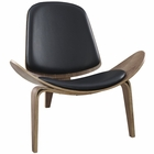 Modway Arch Faux Leather Lounge Chair in Walnut Black MY-EEI-1050-WAL-BLK