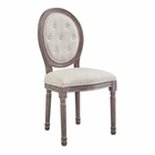 Modway Arise Vintage French Upholstered Fabric Dining Side Chair in Beige MY-EEI-2795-BEI
