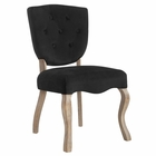 Modway Array Vintage French Dining Side Chair in Black MY-EEI-2880-BLK