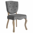 Modway Array Vintage French Dining Side Chair in Gray MY-EEI-2880-GRY