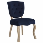 Modway Array Vintage French Dining Side Chair in Midnight Blue MY-EEI-2880-MID
