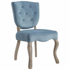 Modway Array Vintage French Dining Side Chair in Sea Blue MY-EEI-2880-SEA