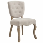 Modway Array Vintage French Upholstered Dining Side Chair in Beige MY-EEI-2878-BEI