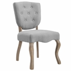 Modway Array Vintage French Upholstered Dining Side Chair in Light Gray MY-EEI-2878-LGR